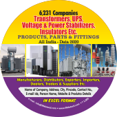 6,231 Transformers, UPS, Voltage  Stabilizers Data - In Excel Format