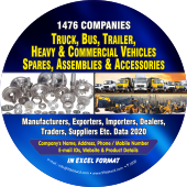 1,476 Truck, Bus, Trailer, Heavy & Commercial Vehicles Spares Parts  & Accessories Data - In Excel Format