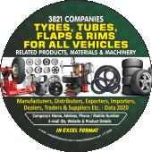 Tyres, Tubes, Flaps  & Rim Data