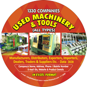 1,330 Used Machinery & Tools (All India) Data - In Excel Format