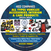 4,832 Vehicles Accessories, Interior Products Data - In Excel Format