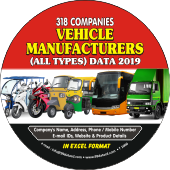 318 Vehicle Manufacturers  (All Types) Data - In Excel Format