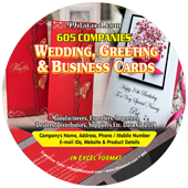 Wedding, Greeting & Business Cards Data