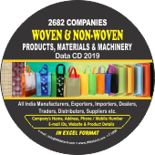 2,682 Woven & Non Woven Products  & Materials Data - In Excel Format
